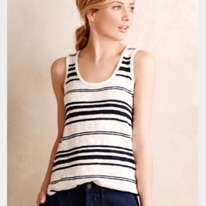 Anthropologie Moth Knitted Striped Tank Top Sz SM